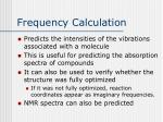 frequency calculation