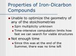 properties of iron dicarbon compounds