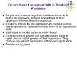 culture based conceptual shift in thinking worldview