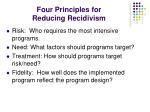 four principles for reducing recidivism
