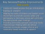 key services practice improvements polk county