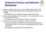 protective factors and behavior mislabeled