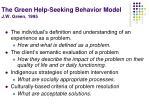 the green help seeking behavior model j w green 1995