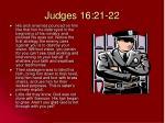 judges 16 21 22