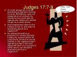 judges 17 7 9