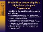 should risk leadership be a high priority in your organization