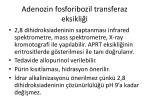 adenozin fosforibozil transferaz eksikli i1
