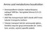 amino asid metabolizma bozukluklar
