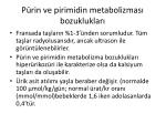 p rin ve pirimidin metabolizmas bozukluklar1