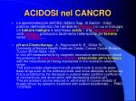 acidosi nel cancro