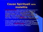 cause spirituali della malattia