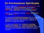 in formazione spirituale