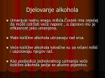 djelovanje alkohola