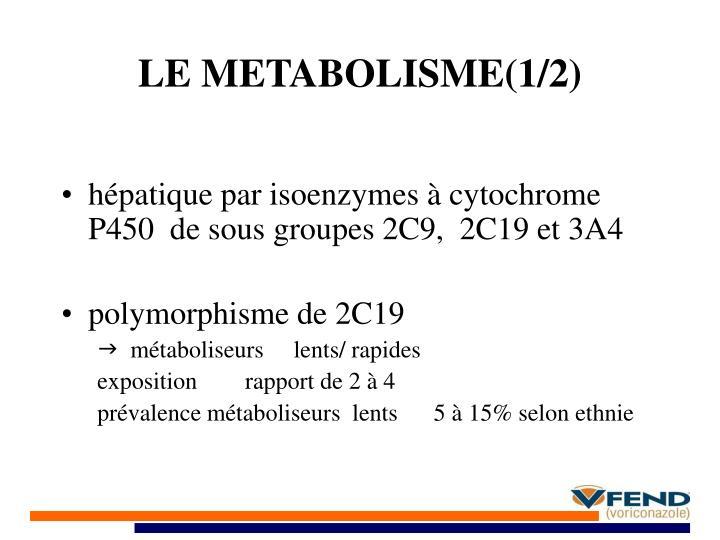 LE METABOLISME(1/2)