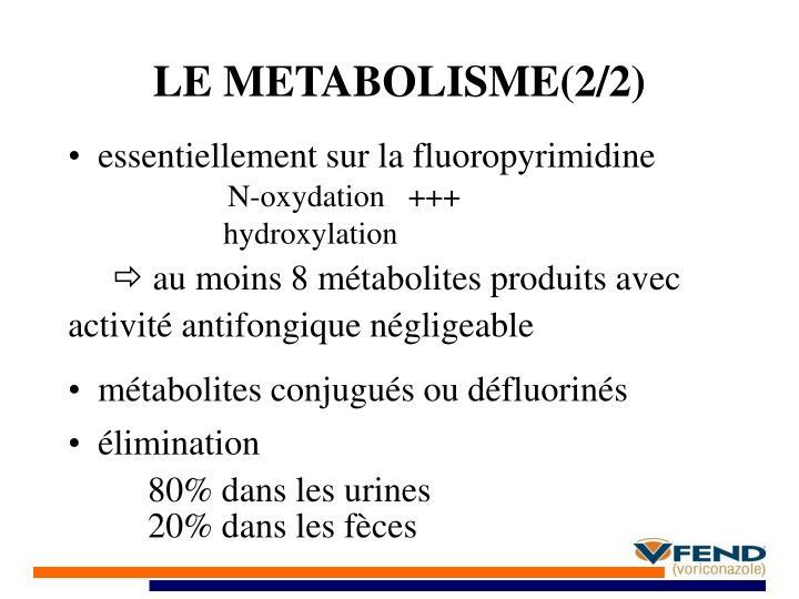 LE METABOLISME(2/2)