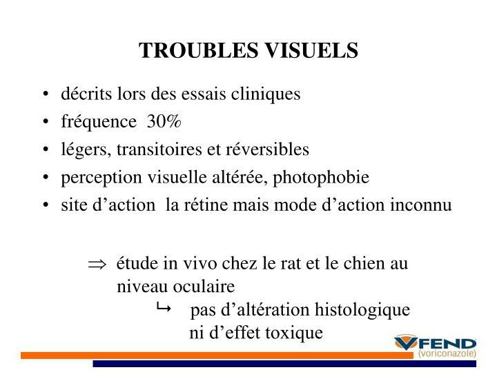 TROUBLES VISUELS