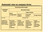 systematic view on company forms