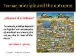 terman principle and the outcome