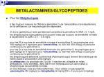 betalactamines glycopeptides1