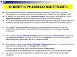 donnees pharmacocinetiques