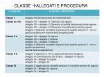 classe allegati e procedura