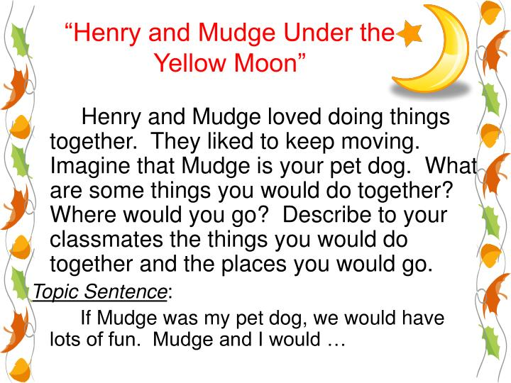 henry and mudge under the yellow moon n.