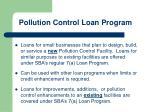 pollution control loan program