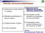 atteintes nerveuses p riph riques