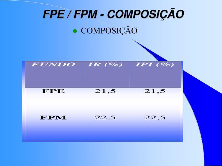 FPE / FPM - COMPOSIÇÃO