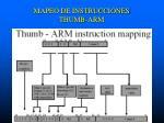 mapeo de instrucciones thumb arm