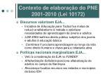 contexto de elabora o do pne 2001 2010 lei 10172
