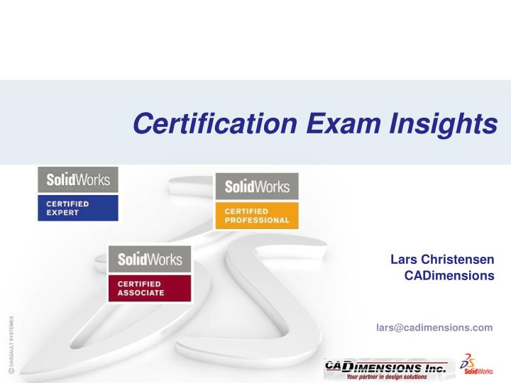 certification exam insights n.