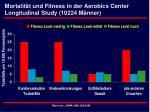 mortalit t und fitness in der aerobics center longitudinal study 10224 m nner