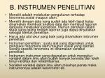 b instrumen penelitian