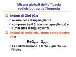 misura globali dell efficacia redistributiva dell imposta