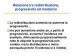 relazione tra redistribuzione progressivit ed incidenza
