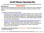 glast mission operating plan