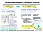 lat instrument triggering and onboard data flow