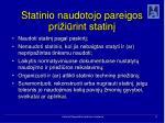 statinio naudotojo pareigos pri i rint statin