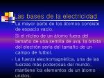 las bases de la electricidad