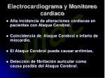 electrocardiograma y monitoreo cardiaco