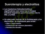 sueroterapia y electrolitos