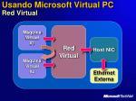 usando microsoft virtual pc red virtual