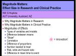 magnitude matters effect size in research and clinical practice