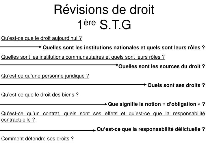 r visions de droit 1 re s t g n.