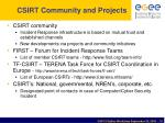 csirt community and projects