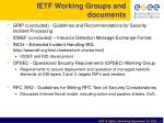 ietf working groups and documents