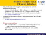 incident response and intrusion detection