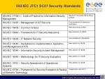 iso iec jtc1 sc27 security standards