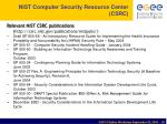 nist computer security resource center csrc